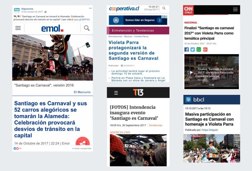 Alt164 - Caso - Santiago es Mío - posicionamiento marca y difusión - prensa